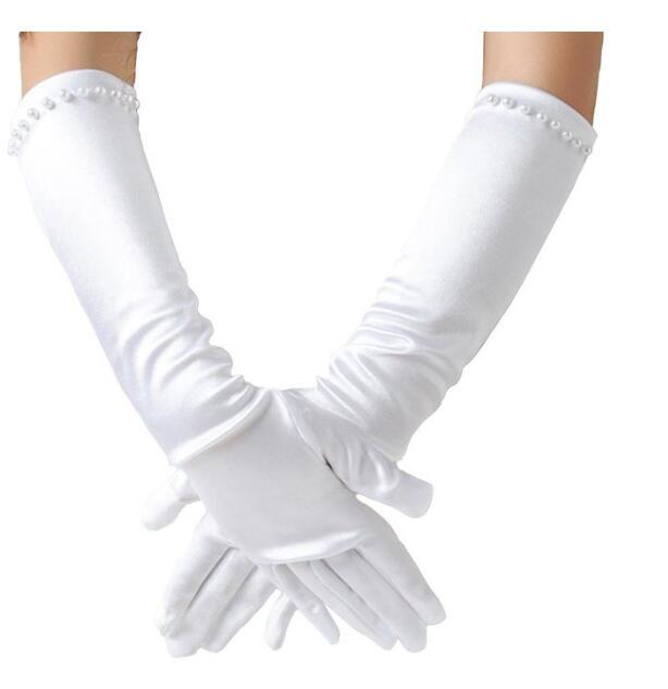 Girls White Gloves