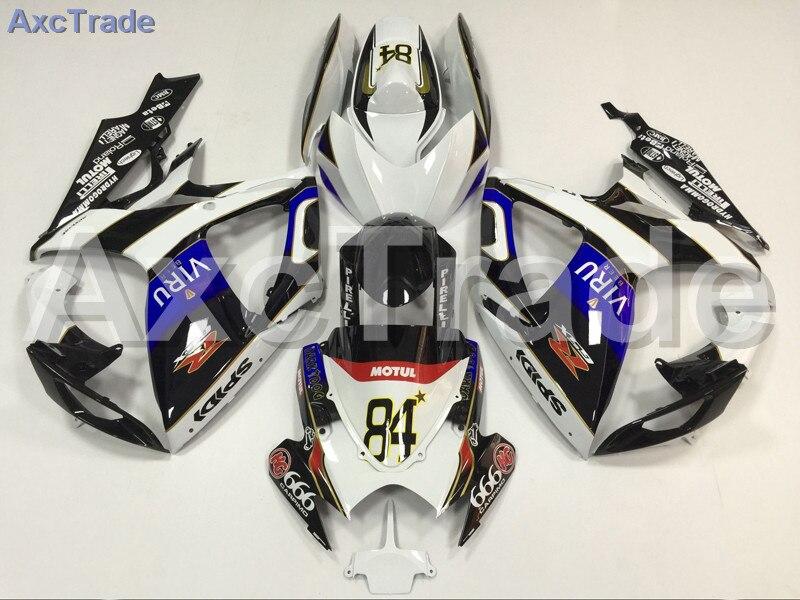 Мотоцикл Обтекатели для Suzuki GSXR системы GSX-Р 600 750 GSXR600 GSXR750 2006 2007 К6 АБС-пластик инъекции обтекатель кузова комплект Белый
