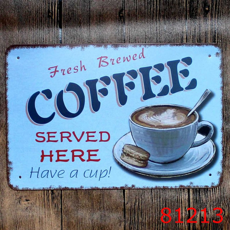 FRESH COFFEE NOW SERVED HOT DRINKS CAFE PVC BANNER PROMOTIONAL VARIOUS SIZES