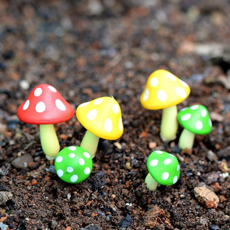 3 Pcs Artificial Mushroom Miniature Fairy Garden Home Houses Decoration  Mini Craft Micro Landscaping Decor DIY Accessories In Figurines U0026  Miniatures From ...