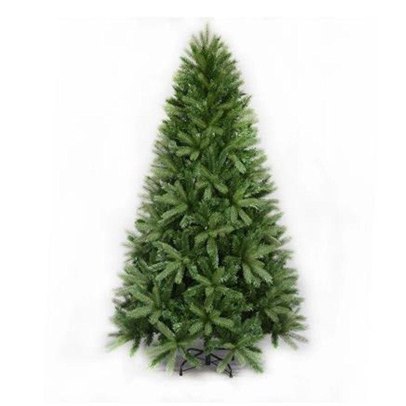 1.5 m/1.8 m/2.1 m/2.4 m arbre De Noël maison simulation cryptage De Noël ornement De Noël arbre mixte PVC + PE feuille arbre