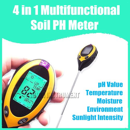 Fress Shipping 4 in 1 Multifunctional (Sunlight Moisture Light PH)soil ph meter Garden plant soil survey new 4 in 1 plant soil ph moisture light soil meter thermometer soil survey instrument ph value sunlight tester hot wholesale