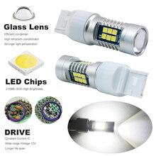 7440 7443 Светодиодные лампы T20 W21/5 Вт лампы 5 Вт-для DRL Туман стоп-сигналы поворотов задние фонари автомобиля источник света ксеноновые Белый