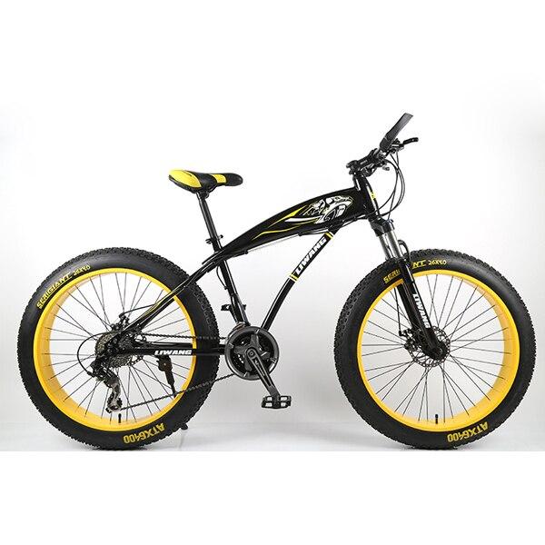 """21 скорость 26 дюймов жира велосипед стальная рама Снег велосипед 4.0 """"супер широкий шин горный велосипед бесплатная доставка"""