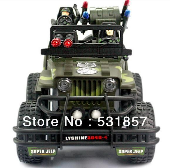 online shop fun radio remote controlled jeep car toy with led lights for boy children older kids 4 channels rechargeable camouflage green aliexpress