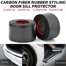 Car Stickers Carbon Fiber Rubber Styling Door Sill Protector Goods For Nissan qashqai J11 J10 juke tiida note AUTO Accessories