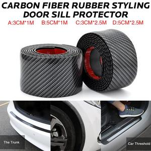 Image 1 - Car Stickers Carbon Fiber Rubber Styling Door Sill Protector Goods For Nissan qashqai J11 J10 juke tiida note AUTO Accessories