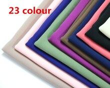 מכירה לוהטת באיכות גבוהה 48 נחמד צבע רגיל בועת שיפון צעיף פופולרי מוסלמי חיג אב ראש ללבוש אופנה נשים צעיף צעיף 180*50cm