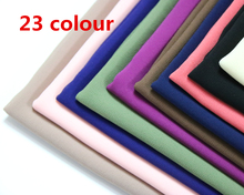 HOT SALE High Quality 48 Nice Color plain bubble chiffon shawl popular muslim hijab head wear fashion women Shawl scarf 180*50cm