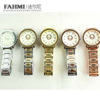 FAHMI Alloy Fashion Business Exquisite Men and Women Couple Quartz Watch Rose Gold High Quality Original Jewelry Fashion Gift