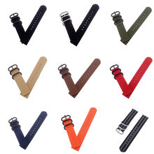 Heavy Duty Nato Nylon Watch Strap Watchbands Belt Metal Buckle Army Sport Watchband Mens 18mm 20mm 22mm 24mm Relojes Hombre(China)