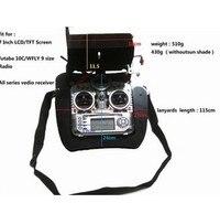 Fpv ground station LCD raidio remote control tray bracket w/Monitor hood&strap