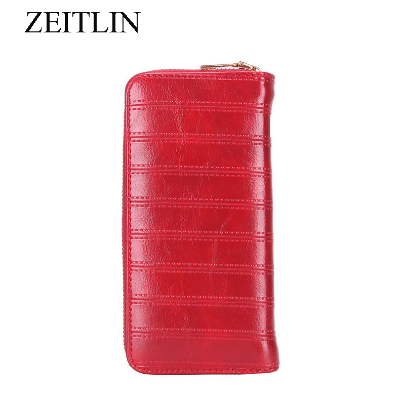 все цены на Fashion Long Organizer PU Leather Women Wallets Large Capacity Purse Card Holder Phone Pocket Lines Woman Money Bag bolsas KKP