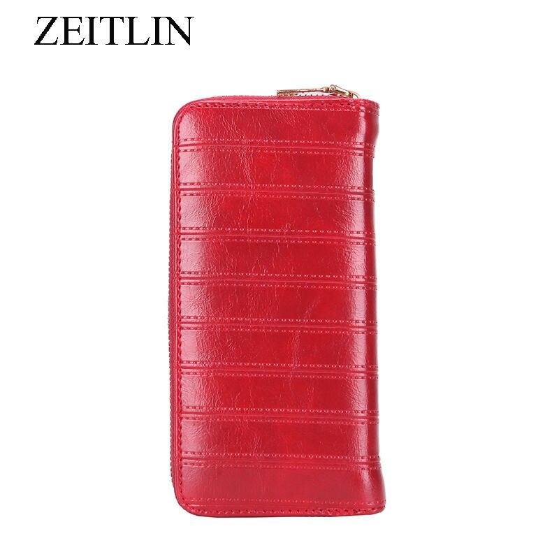 Fashion Long Organizer PU Leather Women Wallets Large Capacity Purse Card Holder Phone Pocket Lines Woman Money Bag bolsas KKP