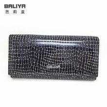 Latest fashion luxury women serpentine genuine leather wallet ladies cheap