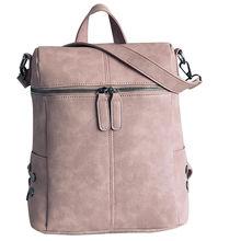 Новинка 2017 года Для женщин модные однотонные PU кожа рюкзак сумка школьные сумки Tote Дамы Кошелек доставка Оптовая продажа #7550528