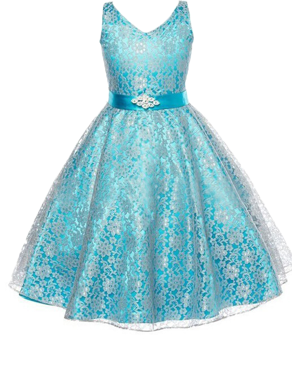 ФОТО Sleeveless A-line V-neck Crystal Ribbon Lace Overlay Gorgeous Sheer Organza Flower Girl Dress with Scattered Lace Floral