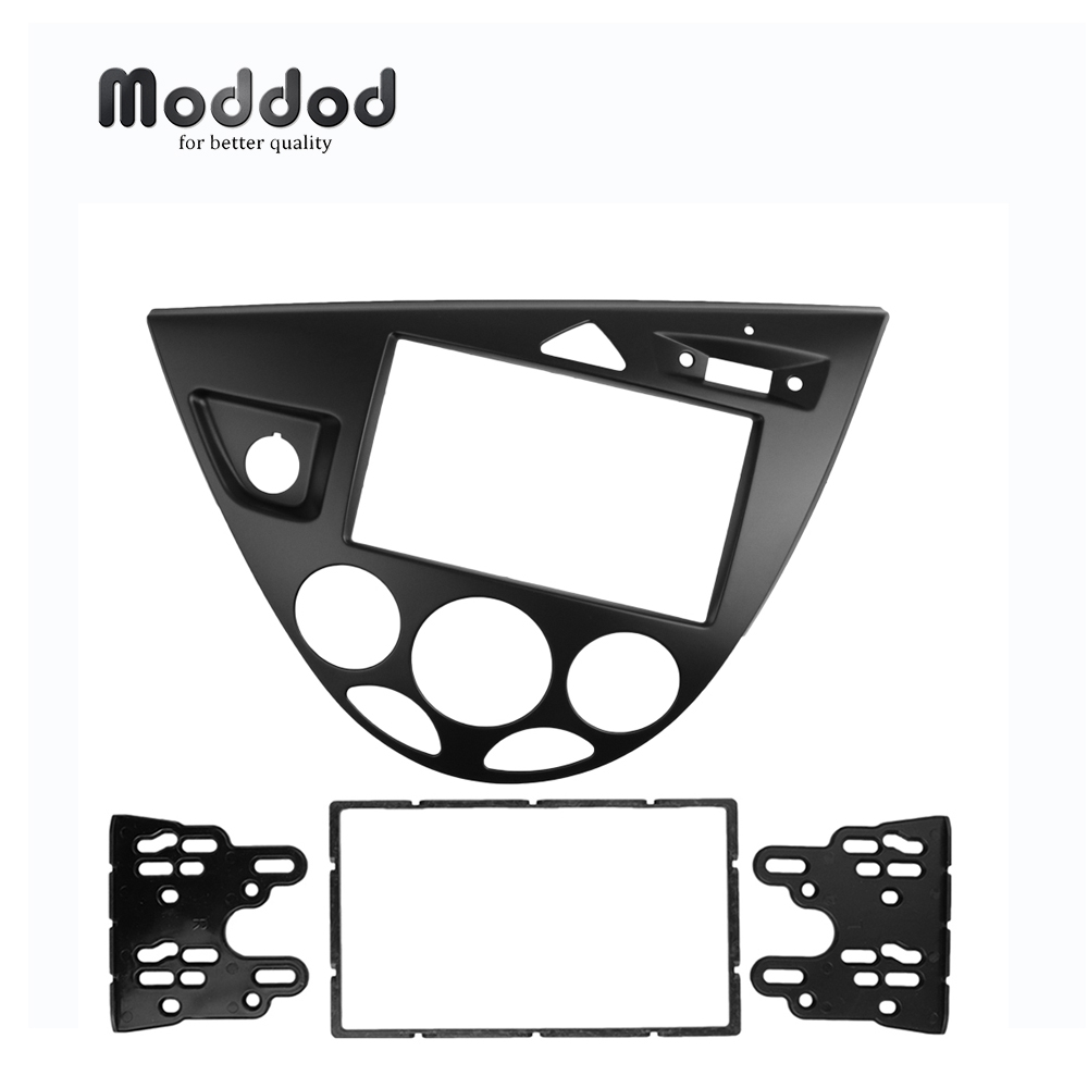 Double 2 Din Stereo Panel For Ford Focus Fiesta Fascia Radio DVD Frame CD GPS Bezel Refitting Dash Installation Trim Kit