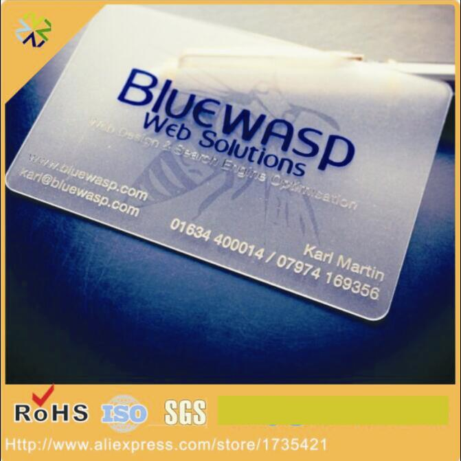 (500pcs/lot)Transparent Plastic PVC Business Card,Cheap Custom Plastic PVC Business Card Printing With Qr Code