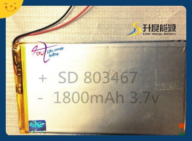 SD Горячие продажи небольшой размер lipo батарея с pcm 803467 1800 мАч