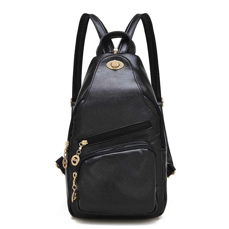 High Quality Vintage Casual Women s Backpacks Genuine Leather Cowhide Multifunction Women Chest Pack Ladies Travel