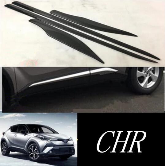 Chrome Door Side Body Molding Trim Cover Protector For Toyota C-HR CHR 2017-2019