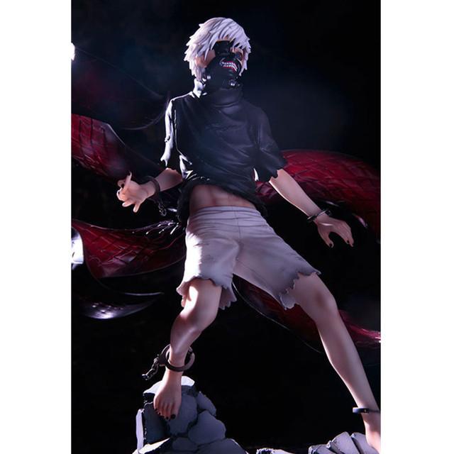 Tokyo Ghoul figure toys Anime Mask Ken Kaneki Melanism model PVC action figure toys 22cm