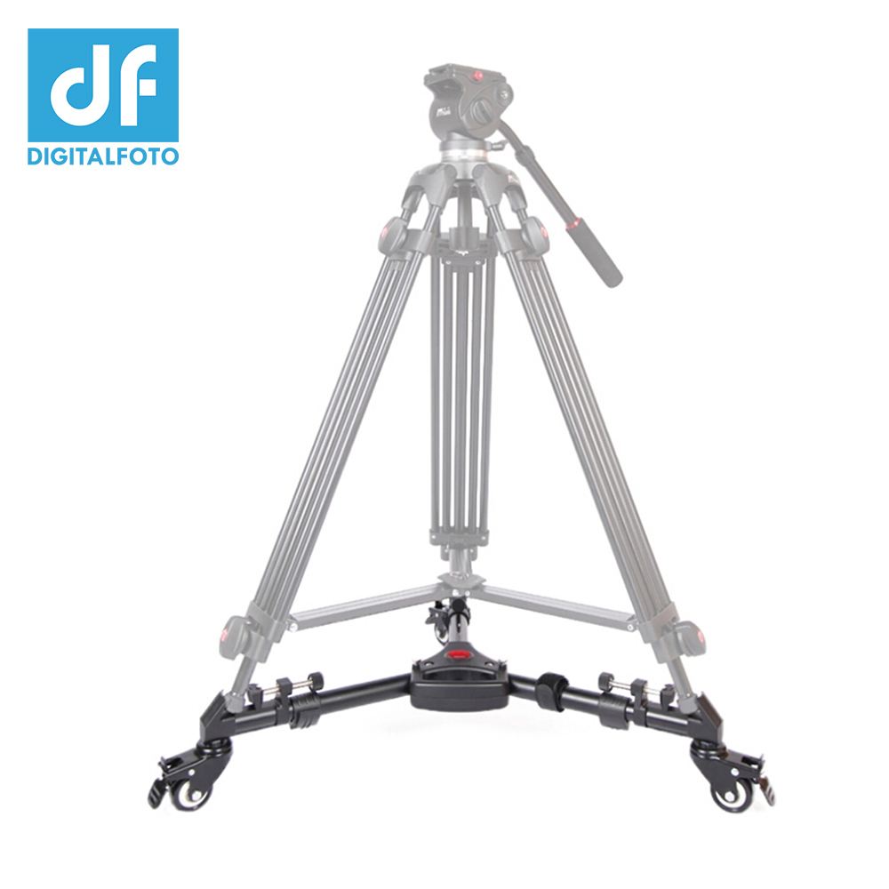 DF DIGITALFOTO YT-900 Pro video tripod Wheels tripod dolly Pulley Universal Folding Camera Base Stand tripod not included hot sale yt 900 professional foldable tripod dolly for photo video yt 900lighting lockable 3 wheels yunteng 900