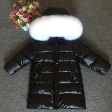 Children's Clothing Kids Down jacket For Boys and Girls Super Big Fox Fur Collar Long Thick Coat 2-12 years old