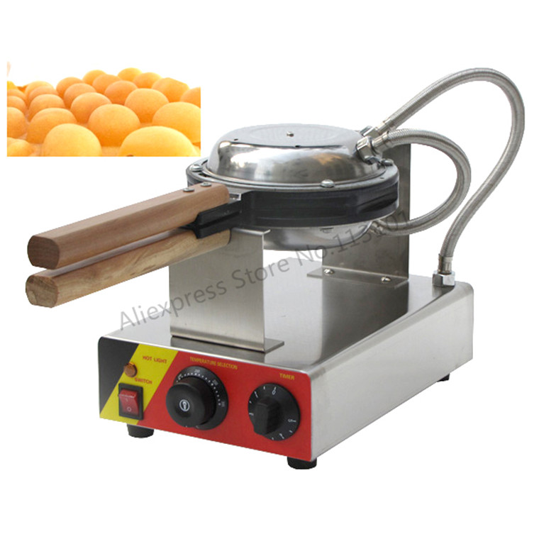 FREE Shipping EGG Waffle Maker Electric QQ Egg Waffle Machine Puffle Cone Making Machine Hong Kong Style Stainless Steel free shipping commercial electric 110v 220v in stock hong kong egg waffle maker fast shipping by fedex