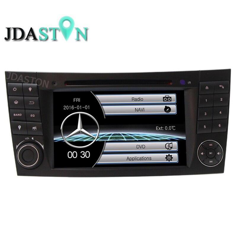 JDASTON 2Din Voiture Multimédia Pour Mercedes Benz E-Classe W211 E200, E220, E240, E270, e280, E300, E320, E350, E400, E420, E55Radio GPS Navi