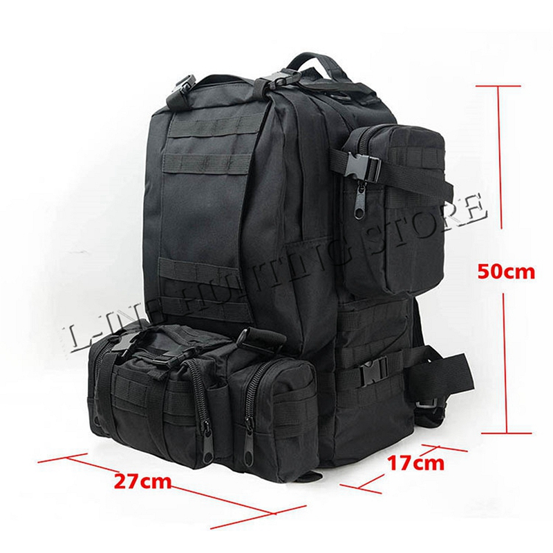 50L Outdoor Military Molle Tactical Bag Rucksack Backpacks Vintage Hiking Camping Gear Camouflage Water Resistant Bags 600D outlife new style professional military tactical multifunction shovel outdoor camping survival folding spade tool equipment