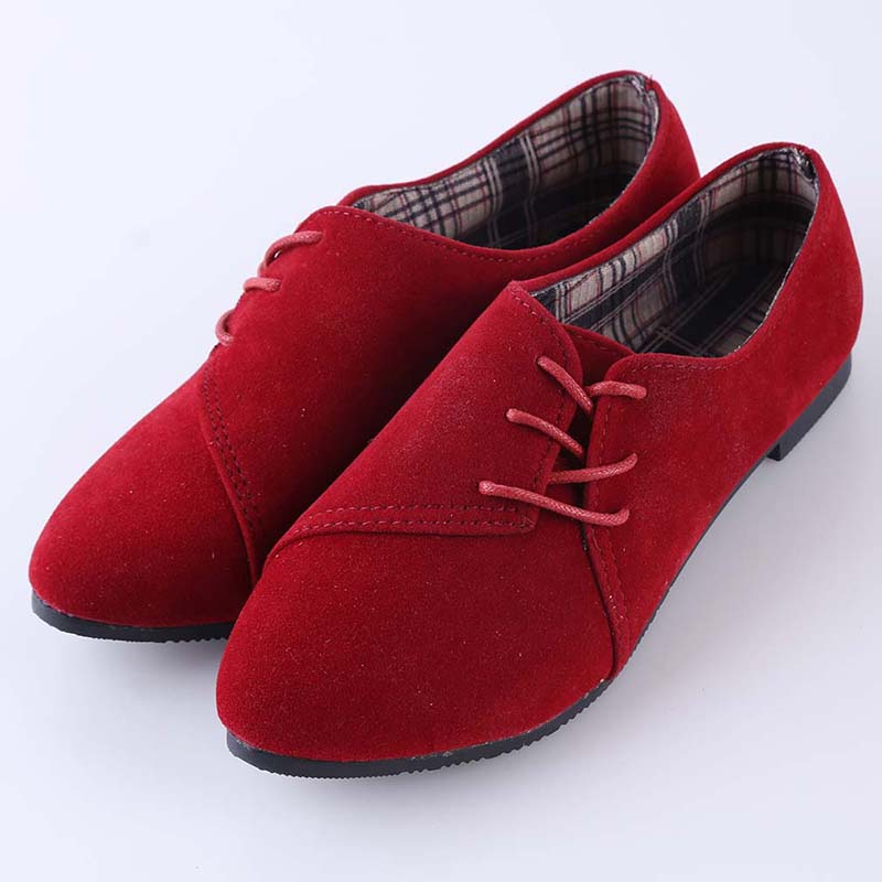 New Fashion Loafers Women Flat Shoes Spring Women Casual Shoes Nubuck Leather Lace Up Round Toe Sapatilhas Zapatos MujerNew Fashion Loafers Women Flat Shoes Spring Women Casual Shoes Nubuck Leather Lace Up Round Toe Sapatilhas Zapatos Mujer