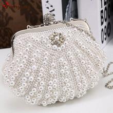 Neue Mode Elegant Perle Abendtasche. Hand perlen Shell-typ Party Erfasst Handtasche Frauen Umhängetasche Umhängetasche