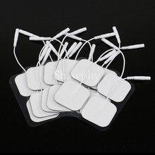 Самоклеящиеся Сменные накладки на 10 электродов, квадратный стимулятор мышц 4*4/5*5 см, электрический цифровой массажер