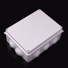 Waterproof Plastic Enclosure Case Power Junction Box IP65 200mm x 155mm 80mm ABS Connectors