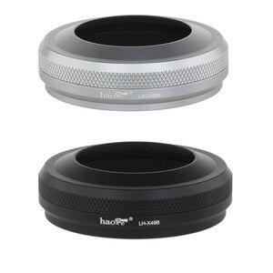 Image 2 - Tam Metal Ultra ince Lens Hood Adaptör Halkası Iplik Tasarımı Fujifilm Kamera için X70 X100T X100S X100
