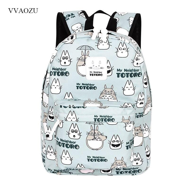 Totoro Backpacks Women Cute 15.6'' Laptop Backpack School Bags For Teenage Girls Boys Daypack Women Mochila