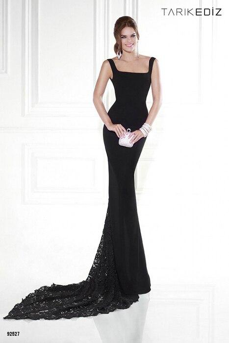 Haute Couture 2015 Tarik Ediz 92527 Long Party Dress Black Mermaid