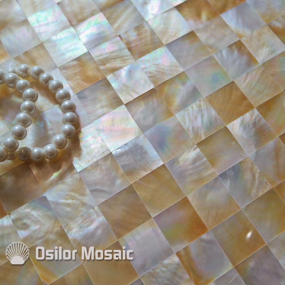 Free shipping 100% sea shell yellowlip shell mother of pearl mosaic tile for interior house decoration wall tile free shipping 100% sea shell abalone paua shell seamless mother of pearl mosaic tile for interior house decoration wall tile