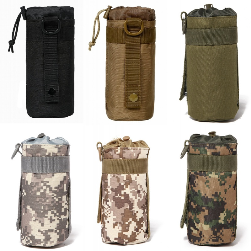 CQC Outdoor Tactical Military Molle System Water Bottle Pouch Kettle Holder Carrier Airsoft Paintball Travel Camping Hunting Bag