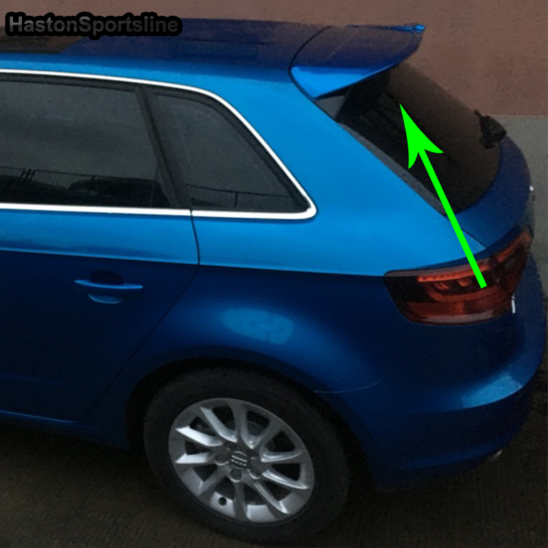 A3 Modified ABT Style ABS Primer Rear Trunk Luggage Compartment Spoiler Car Wing For Audi A3 Sportback Not S3 SLine 2014-2016 s3 style for audi a3 sedan carbon fiber rear trunk spoiler wing 2014 2015 2016