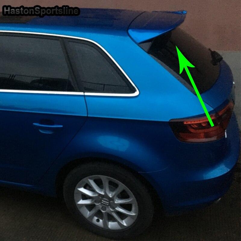 A3 modifié ABT Style ABS apprêt coffre arrière compartiment à bagages aileron aile de voiture pour Audi A3 Sportback pas S3 SLine 2014-2016