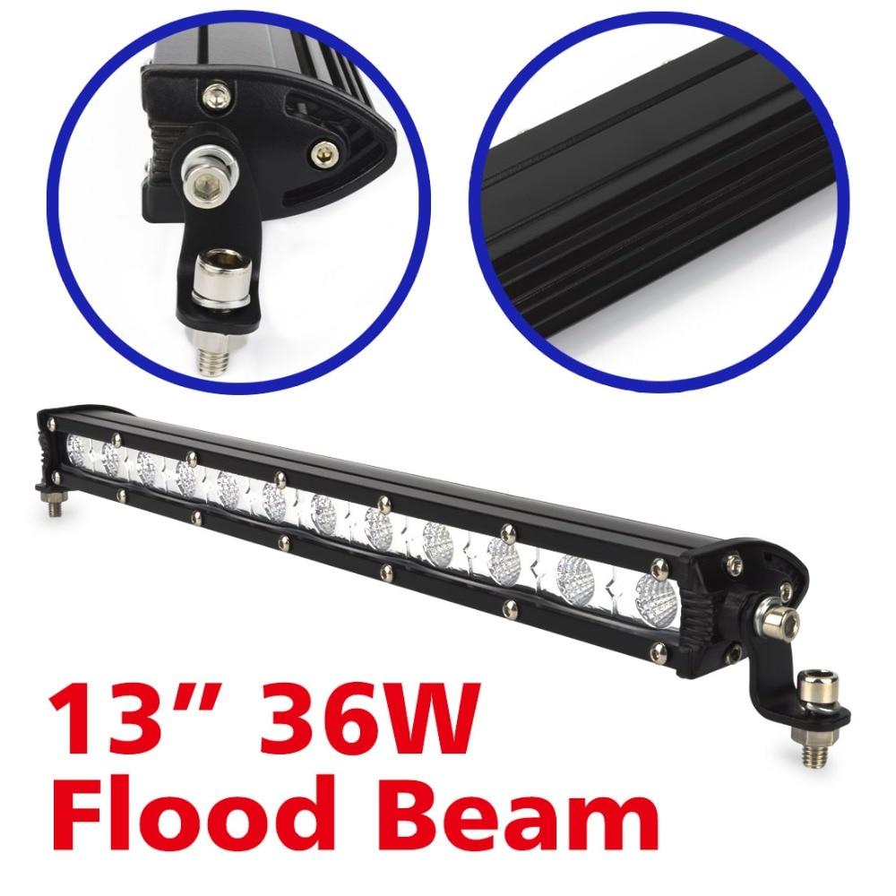 2gab. 13 collu 36W LED gaismas josla ATV visurgājēja lukturu migla - Auto lukturi