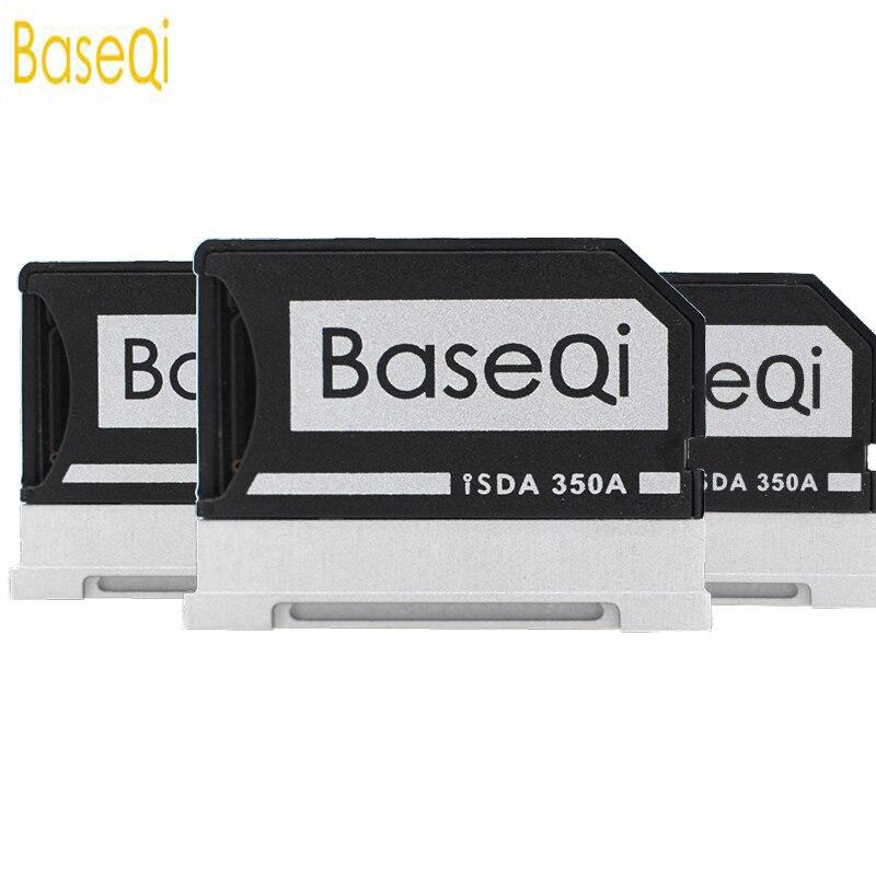 BaseQi Micro SD adaptador para superficie de Microsoft libro 13 /15 de aluminio de lector de tarjeta