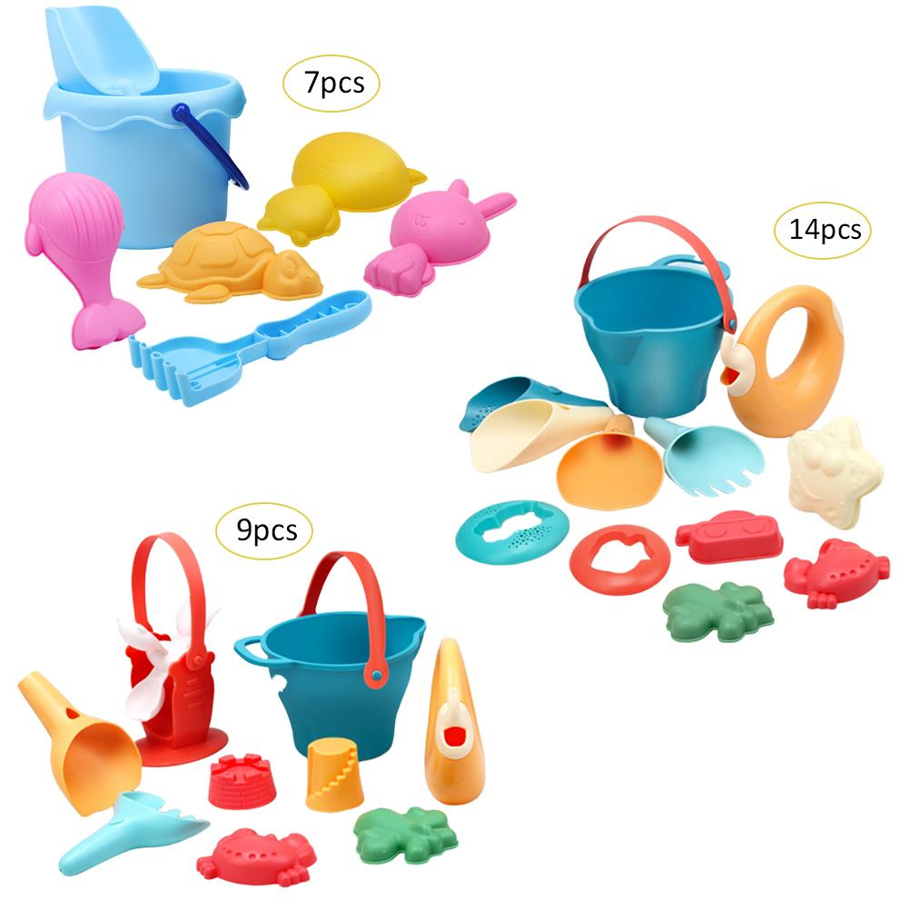 Baby Puzzle Play House Play Sand Tool Children Soft Rubber Beach Suit Outdoor Play Water Dredging Toys Snow Beach Pool Toy Set