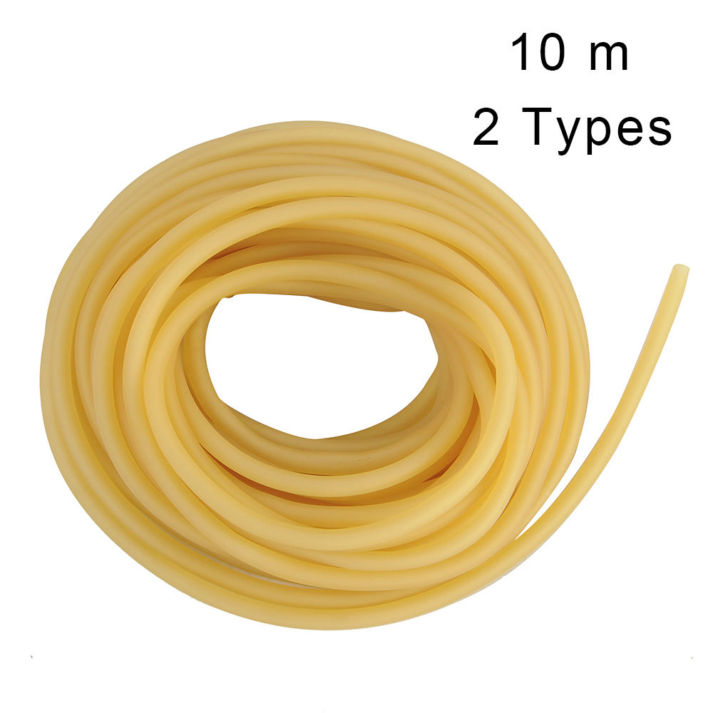 10m Rubber Tube Natural Latex Slingshots Tubing Band For Slingshot Hunting Band Catapults Fitness Yoga Tactical Bow Accessories