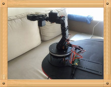 5 DOF Robotic clamp kits with rotation base robotic DIY robot claw framework with ardunio servo