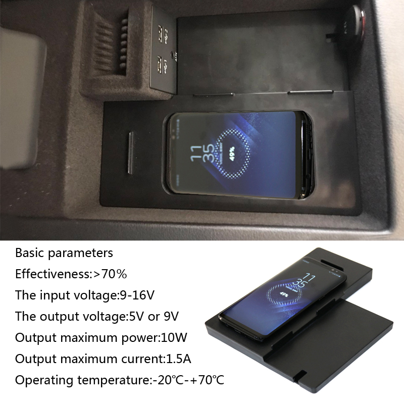 For Audi A6 C6 A7 car mount QI wireless charger car phone charger quick charging center console phone holder car accessories itian a6 3 coils multi function qi standard wireless charger for tablet pc mobile phone black