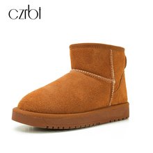 CZRBT 6 Colors Genuine Leather Boots Women Snow Boots Classic Cow Suede Wool Blend Winter Ankle Boots Australia Warm Snow Boots